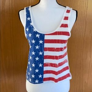 Stars and Stripes cropped Tank Top